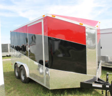 8.5x20 Cargo Trailer Black Red (4)