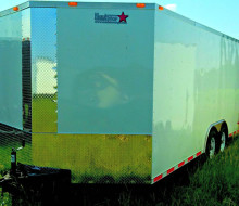 8.5x18 Enclosed Cargo trailer Haulstar White (2)