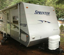A KEYSTONE SPRINTER TRAVEL TRAILER 1