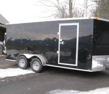 7\' x 16\' Enclosed Black Diamond Cargo Trailer
