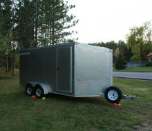 2008 Rance ALL Aluminum 17\' Motorcycle Trailer Trailerocity
