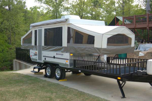 2010 Rockwood 282txr Pop Up Toy Hauler Camper
