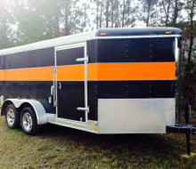 16ft. Custom Enclosed V-Nose Motorcycle Trailer Trailerocity