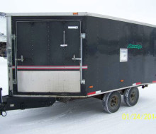 2002 Haulin\' enclosed V nose trailer Trailerocity