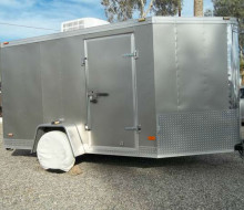 2003 Haulmark 6x14 V nose cargo trailer with 13500 roof AC  Trailerocity