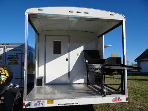 2013 Custom Enclosed Concession Food Vending Bbq Trailer