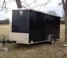 2013 7 x 12 v nose, Diamond Cargo enclosed trailer