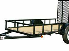 5x10 Single Axle Utility Trailer with Ramp Gate Trailerocity.com 1