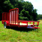 New! 83X12 ATV Trailer with Side Gate 1