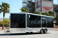 ALUMINUM 20 PLUS 5 WEDGE ENCLOSED CARGO RACE CAR TRAILER TRAILEROCITY 1