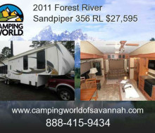 2011 Forest River Sandpiper 356 RL Fifth Wheel 1