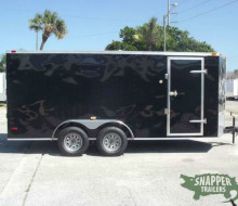 NEW! 7x16 Black Enclosed Trailer Trailerocity.com 1