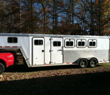 2001 Featherlight 4 horse slant load trailer Trailerocity.com 1