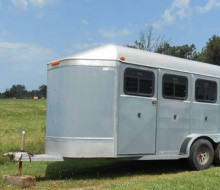 AWESOME 3 HORSE SLANT CONVERTABLE WORK TRAILER 1