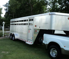 ALUMINUM HORSE CATTLE STOCK TRAILER 1