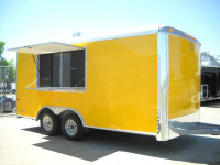 NEW 2014 CONCESSION TRAILER 8.5 x 16 Food Vending Enclosed 1